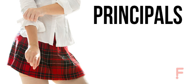Principals. A naughty school girl