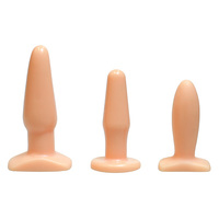 Loving Joy Triple Dip Butt Plug Set Flesh