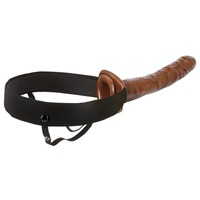 Fetish Fantasy 10 inch Chocolate Dream Hollow Strap-On
