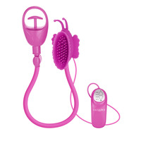 Butterfly Clitoral Pump Vibrator Pink