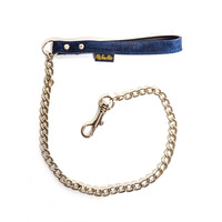 Fifty Times Hotter Blue Suede Chain Lead