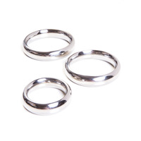 Steel Cock Ring Set with 3 Pieces