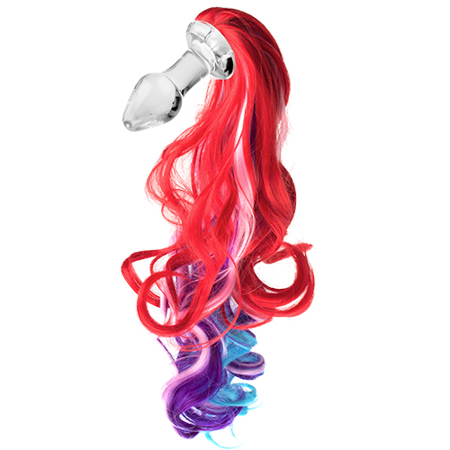 Kinky Tails Vivid Pony Glass Butt Plug
