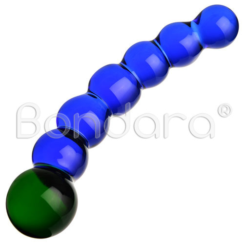 Arse Hungry Caterpillar Glass Dildo - 8 Inch - Bondara