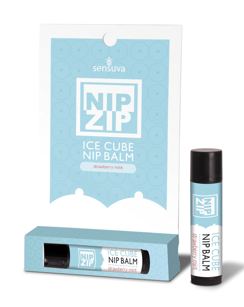Nip Zip Ice Cube Strawberry Mint Nipple Balm by Sensuva