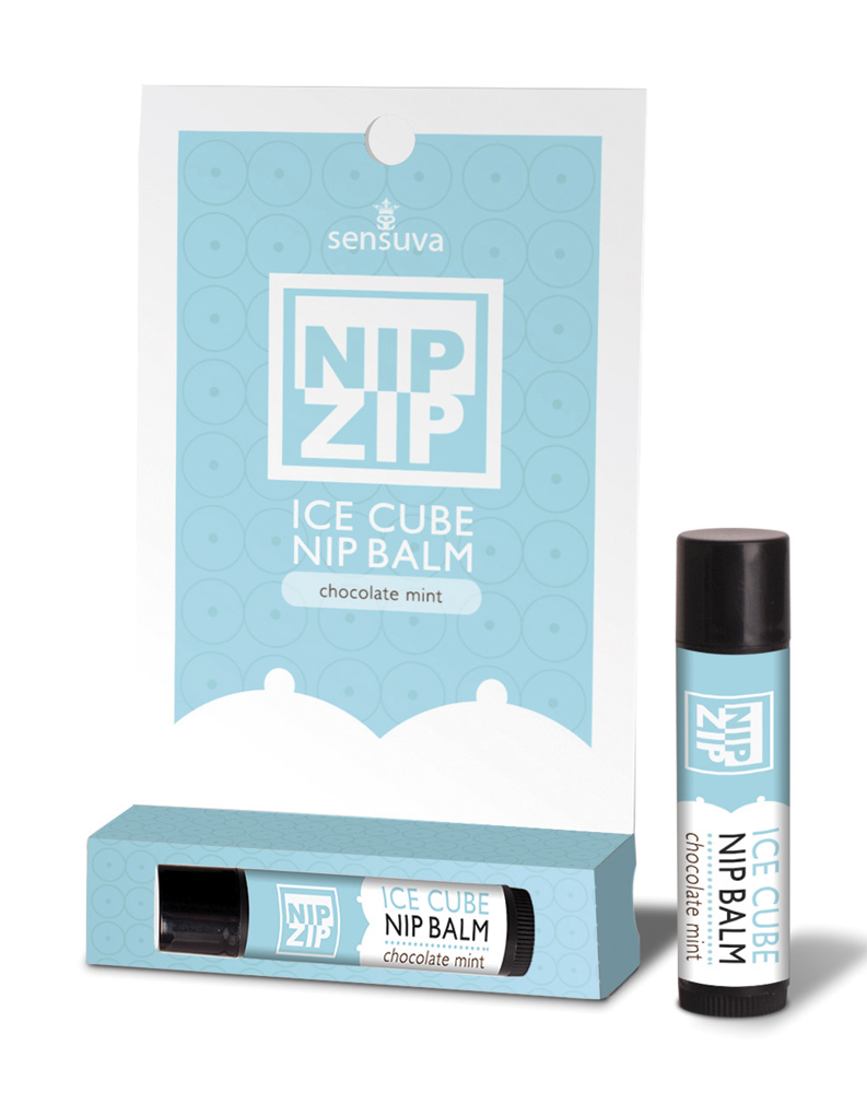 Nip Zip Ice Cube Chocolate Mint Nipple Balm by Sensuva
