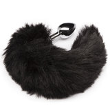 DOMINIX Deluxe Stainless Steel Medium Faux Fur Animal Tail Butt Plug