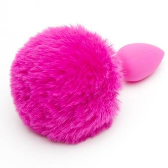Colorful Joy Silicone Bunny Tail Butt Plug